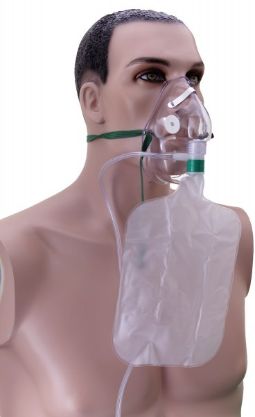 Atemmaske, Sauerstoff, mit Reservoir