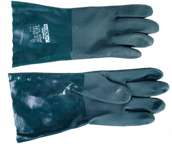 Chemikalien Schutzhandschuh, mit Stulpe, Gr. 10