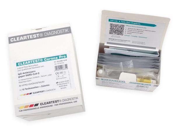 CLEARTEST Corona Pro Antikörper Test