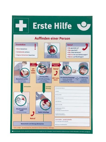 """Plakat """"Erste Hilfe muss immer wieder trainiert werden"""" 56-977-1"""