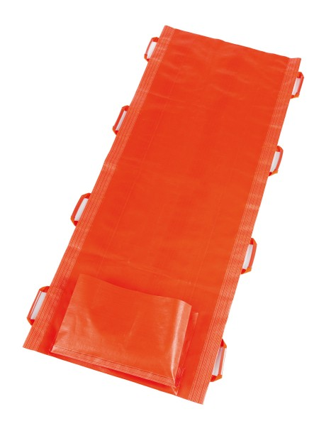 Rettungstuch mit Fußsack, orange