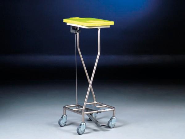 Hammerlit Wäschesammler mit Kunststoff - Scharnierdeckel und Tretmechanismus LT