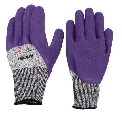CUTEXX-5-L Handschuh, lila/grau
