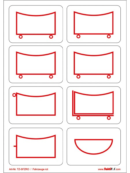 Taktifol selbsthaftende Symbole 333-916
