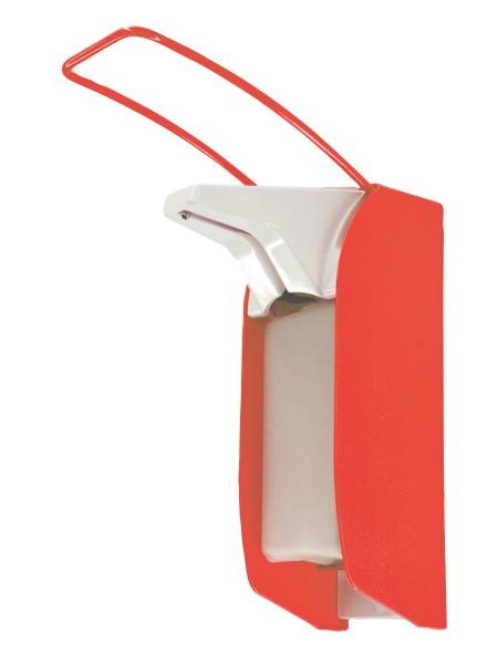Seifen- und Desinfektionsmittelspender leuchtrot 64-111