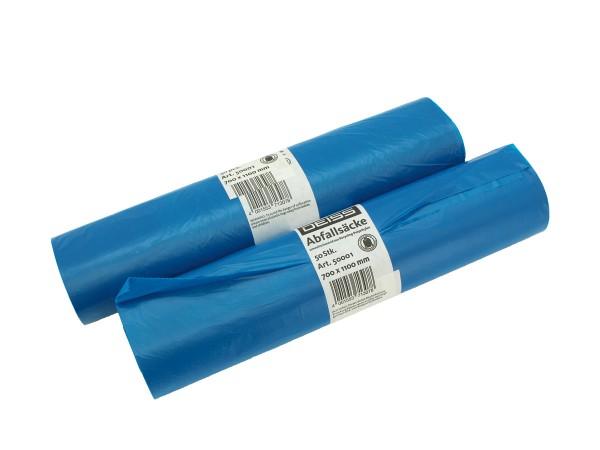 Abfallbeutel 120 Liter Blau 64-165