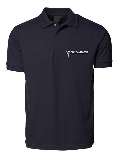 mrw Poloshirt Blau Notfallsanitäter