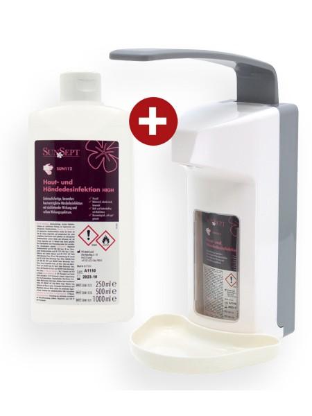 Sparpaket Händedesinfektion inkl. Spender S19981