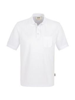 HAKRO Pocket-Poloshirt Performance Weiß, Herren YHA-812-11-Größe